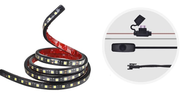 MICTUNING Bed Light Strip Lamp