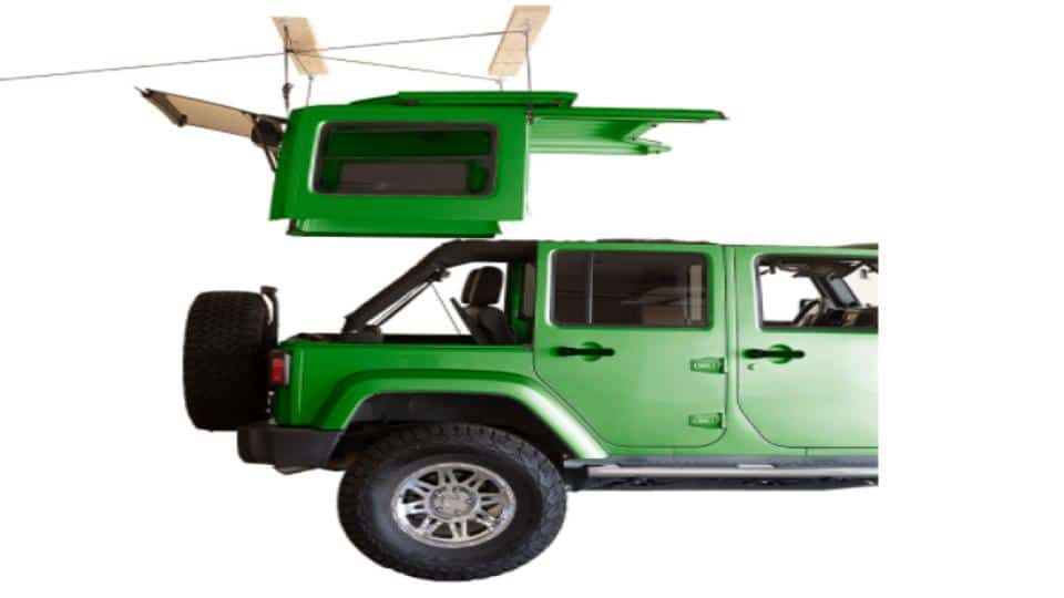 Harken Hardtop Overhead Garage Storage Hoist for Jeep Wrangler and Ford Bronco