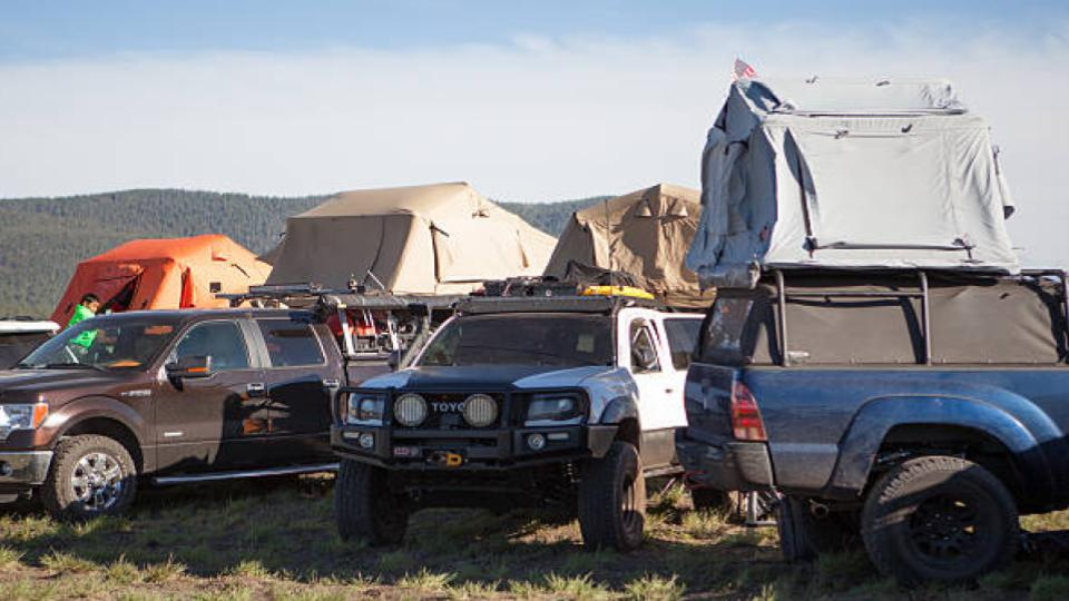 vehicles with roof top tents