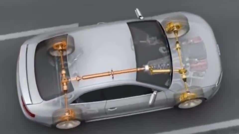 4WD car diagram