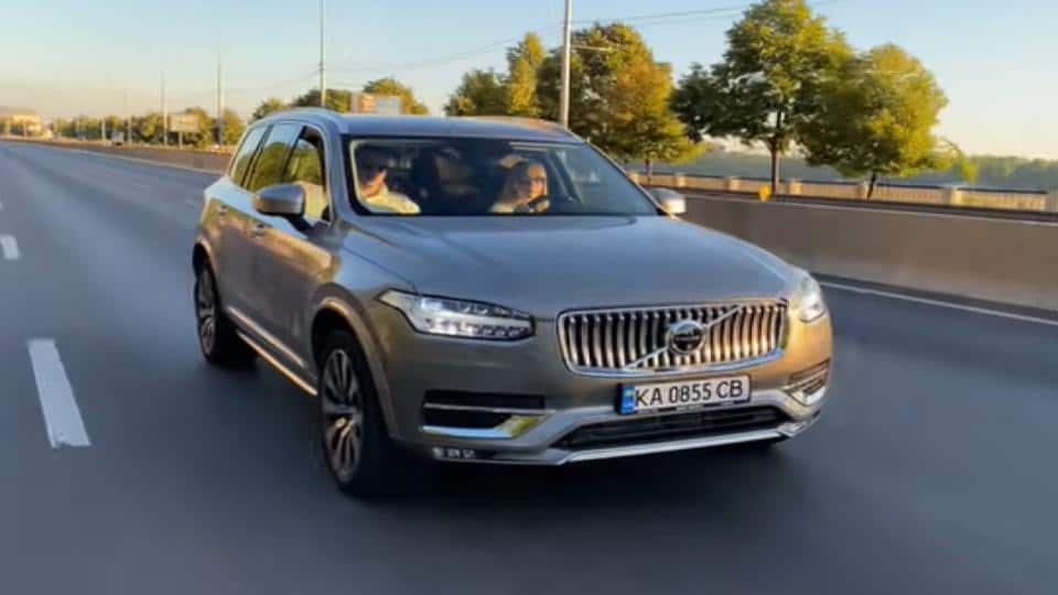 Volvo XC90 SUV traveling on the highway
