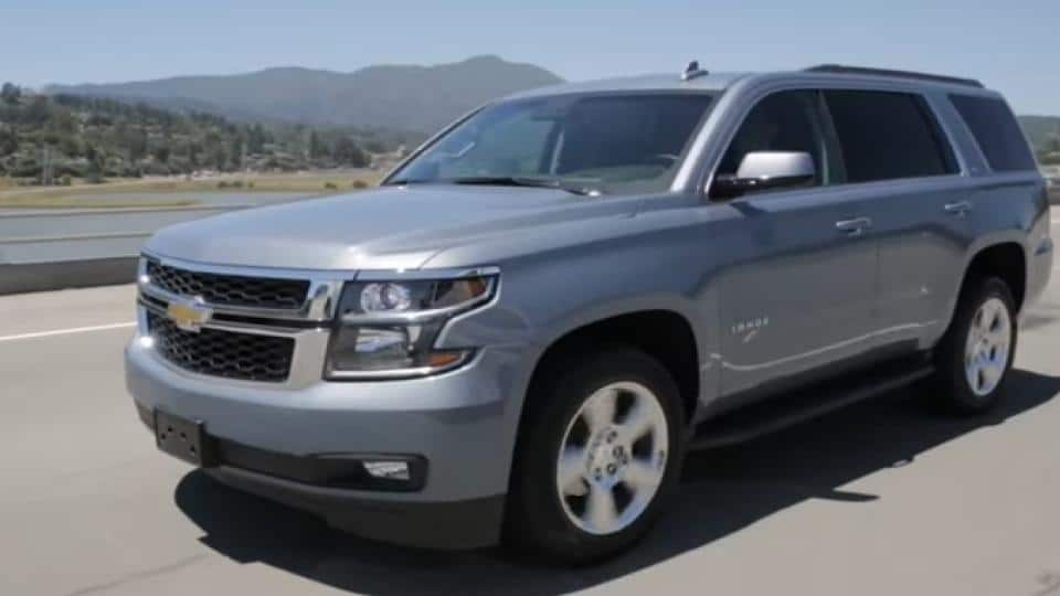 chevrolet tahoe on the road