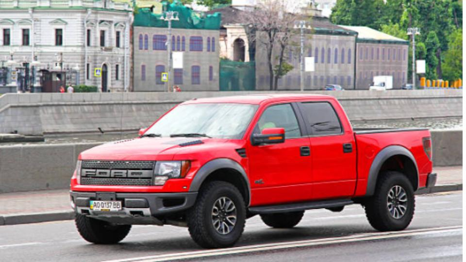 ford f150 on the road